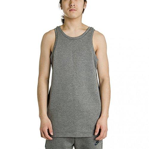 Carbon Look Tank (Nike mens TECH FLEECE TANK 727353-091_S - Carbon Heather/Black/Obsidian)