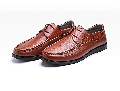los la Hombres Cordones tamaño los Color de Vestido de Cuero Boda con para Hombres Hombres marrón de Zapatos Negocio Claro Holgazanes Ocasionales del Claro de 42 los HhGold del Marrón Formal xgwqHH