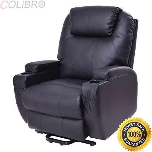 COLIBROX--Lift Chair Electric Power Recliner w/Remote and Cup Holder Living Room Furniture. by COLIBROX (Image #9)