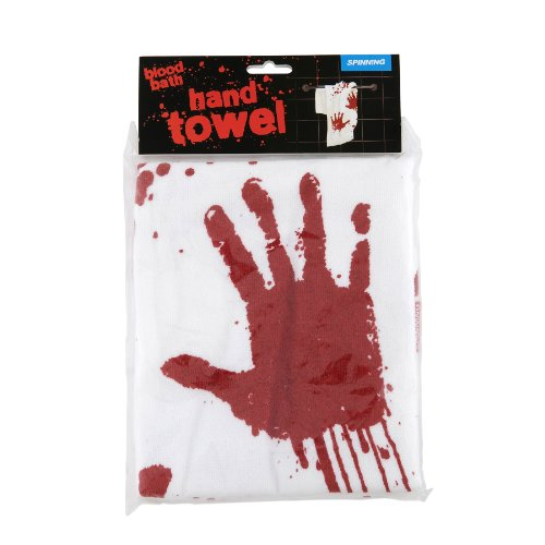 Hand Towel with Bloody Hand Print