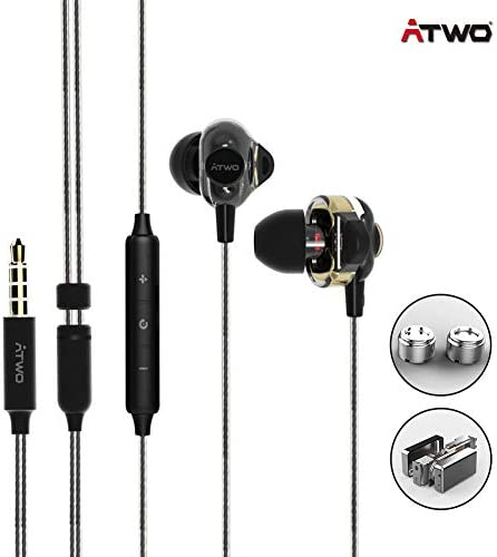 [ATWO AT131] Wired Earbuds, in-Ear Wired Earphones, ATWO Driver Sound Wired Headphone Gaming Earbuds Android Smartphones with Galaxy 3.5mm Earphones MP3 Laptop Earbuds