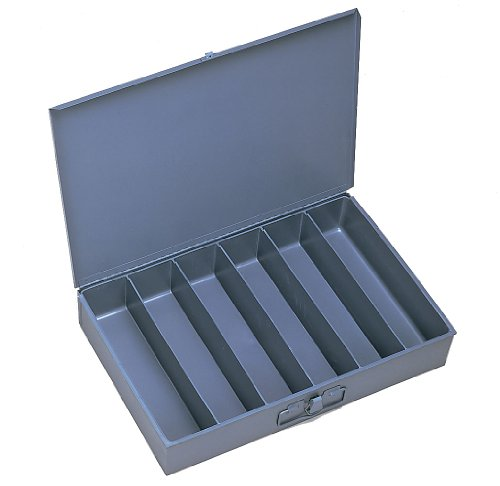 Durham 117-95-IND Gray Cold Rolled Steel Individual Large Vertical Box, 18 Width x 3 Height x 12 Depth, 6 Compartment