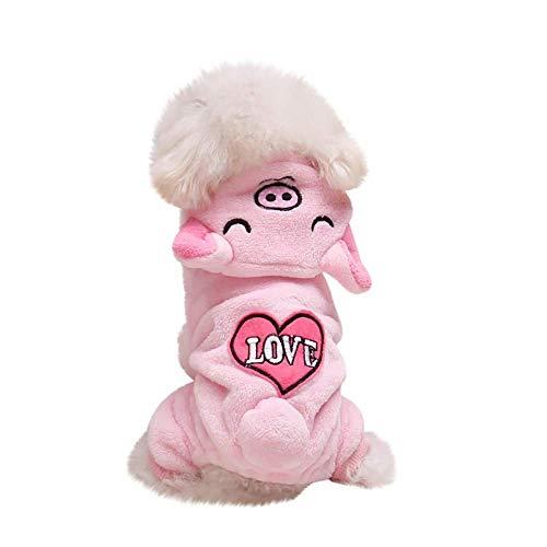 fogohill Fashion Newest Dog Cosplay Costume Pet Puppy Kitten Super Flannel Warm Animal Transfiguration Hooded Coat Piggy -