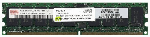 4GB (2x2GB) Sun SPARC Enterprise T1000/T2000 Chipkill Server Memory (p/n SEKX2C1Z) by Gigaram