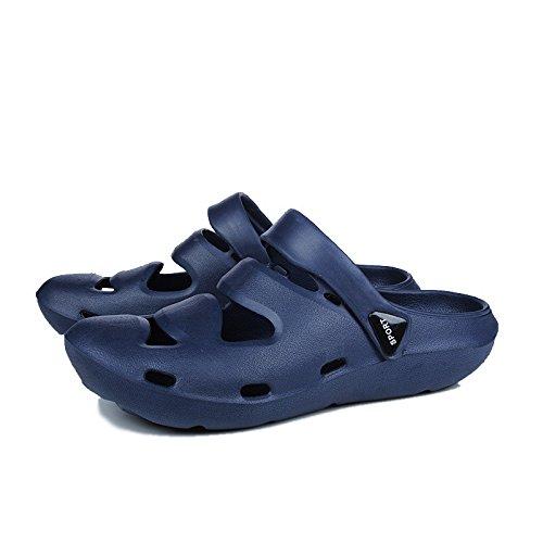 I pattini dell'unità di elaborazione dei sandali di plastica di svago dei pattini dell'uomo di estate i nuovi sandali comodi di uso doppio, blu, UK = 7, EU = 40 2/3