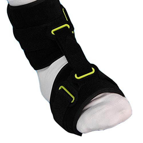 Ankle Dropfoot Orthosis Night Time Foot Drop Brace Breathable Adjustable Plantar Fasciitis Night Splint Dorsal Support Foot Arch Shock Absorber Bandage Equipment Footrest Free Size