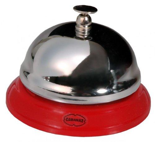 Thekenklingel Tischklingel Rezeptionsklingel Glocke Bell rot- verchromt