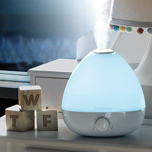 FridaBaby 3-in-1 Humidifier, Diffuser, Nightlight for Nursery Sinus-Soothing Cool Mist, Aromatherapy, and Relaxing Color-Change nightlight Lasts for up to 12 Hours