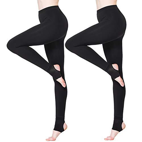 1119f269b5b6c BONAS 2packs Women s Thermal Leggings Fleece Lined Casual Tights