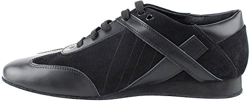 Men's Ballroom Latin Salsa Sneaker Dance Shoes Leather Black SERO106BBXEB Comfortable - Very Fine 8.5 M US [Bundle of 5] by Very Fine Dance Shoes (Image #3)