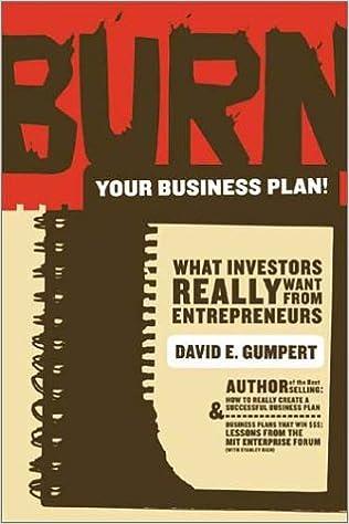 burn your business plan gumpert
