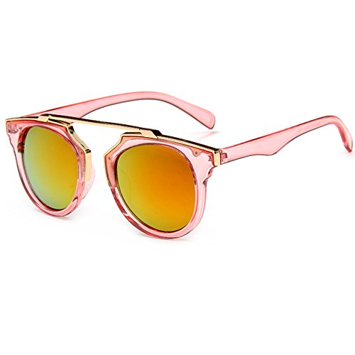 HUAYI Women's Trend Glasses Retro Style Color Mirror Sunglasses by HUAYI (Image #1)
