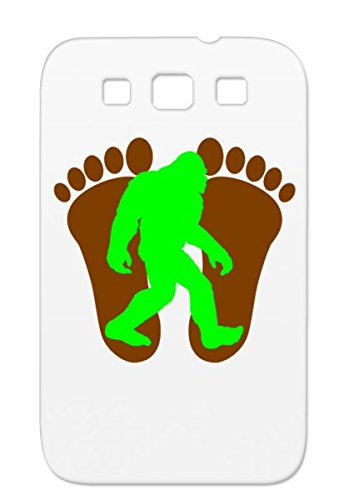 TPU Bigfoot Funny Footprint Green Silhouette Foot Brown Sasquatch Miscellaneous Neon Print Protective Case For Sumsang Galaxy S3 Bigfoot Footprints