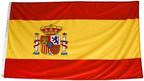 esvendio Bandera de España de Tela Fuerte (1 Unidad), Bandera Española Grande para Exterior 150x90 cm: Amazon.es: Jardín