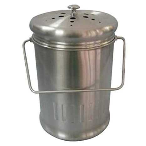 1 Gal Stainless Steel Kitchen Compost Pail