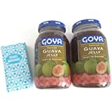 Goya Guava Jelly 17oz (Pack of 2) plus tissues pack