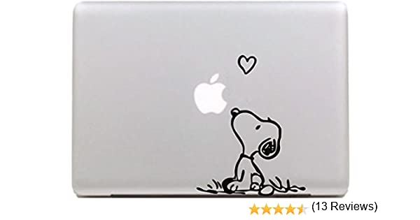 ... Amor Snoopy Sticker Decal Skin Arte Negro para Apple Macbook Pro Aire Mac 13