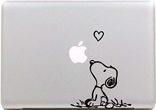 Vati hojas desprendibles creativo Amor Snoopy Sticker Decal Skin Arte Negro para