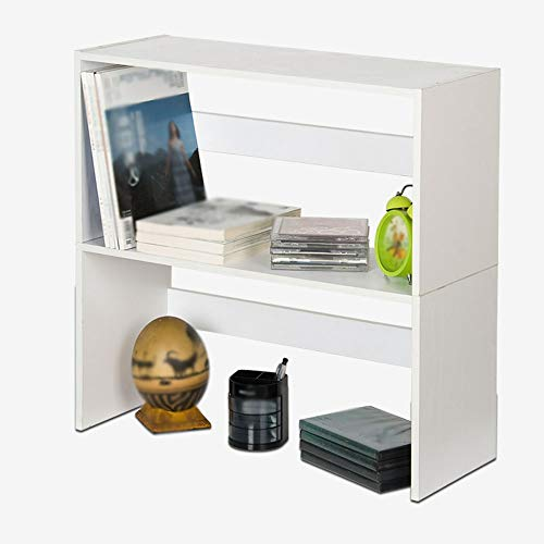 Bookshelf, Japanese and Korean Style Double Bookcase Shelf Table Decoration News Stand - Shelves Ladder Double Desk