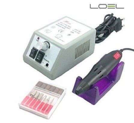 Loel Professional Electric Nail Art Salon Drill Glazing Fast Machine Manicure Pedicure Kit Grey Gel Salon Art Tool Polish for Gels, Acrylics, Natural Nails. Turbo Nail Filing System. Control Box for Easy...