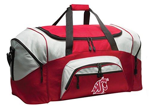Broad Bay Deluxe Washington State University Suitcase Duffel Bag or Large Washington State Gym Bag Gear Duffle