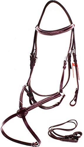 TackRus Horse English Bridle Padded Leather COB Jumping Adjustable Figure 8 803447MGC