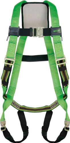 - Miller by Honeywell P950QC-4/S/MGN DuraFlex Python Full-Body Ultra Harnesses with Tubular Webbing and Comfort D-Pad, Small/Medium, Green