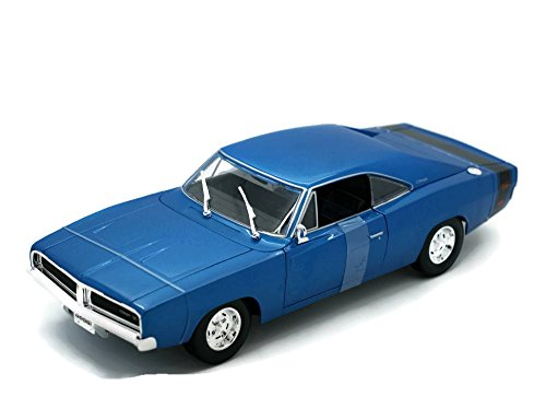 (Maisto 1969 Dodge Charger R/T Special Edition Diecast 1:18 Scale Blue)