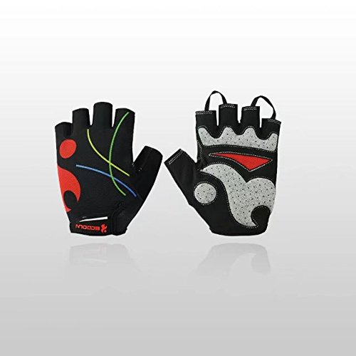 Drumming Drummers Costume (Vrcoco Men Women Outdoor Bicycle Half Finger Gloves Summer Riding Gloves Breathable Light Silicone Gel Pad Riding Gloves,1 Pair)