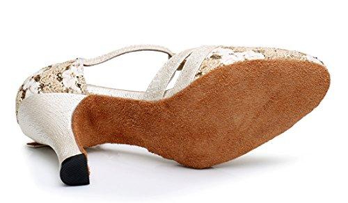 TDA - Sandalias con cuña mujer 8.3cm Heel Beige