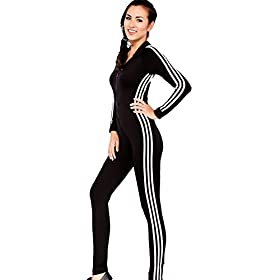 - 41NPTqPs 2BTL - Bodycon4U Women's Sport Lycra Spandex Long Sleeve Zentai Unitard Bodysuit Jumpsuit Romper