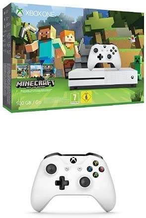 Xbox One - Pack Consola S 500 GB: Minecraft + Mando Inalámbrico, Color Blanco Bluetooth: Amazon.es: Videojuegos