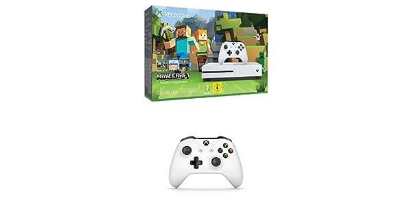 Xbox One - Pack Consola S 500 GB: Minecraft + Mando Inalámbrico, Color Blanco Bluetooth: Amazon.es: Videojuegos
