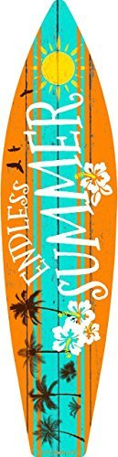 Smart Blonde Endless Summer Metal Novelty Surf Board Sign SB-031 ()