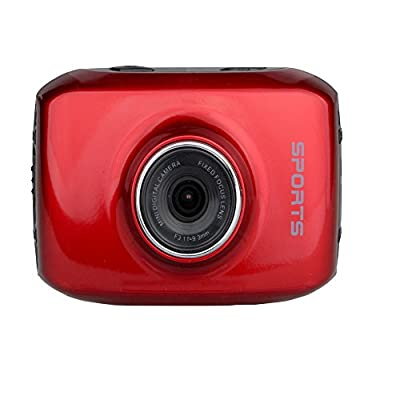 Smart Wifi 2.0 Touch Panel Screen 720p 50 Meters Waterproof Sport Camera with 120° Wide Angle Red