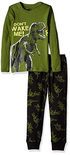 Piece Long Sleeve Tight Fit Pajama Set, Don't Wake me Dino, 4 ()