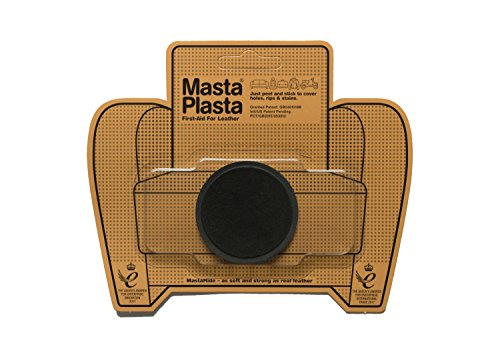 (MastaPlasta Self-Adhesive Patch for Leather and Vinyl Repair, Small Circle, Suede Black - 2 Inch Diameter - Multiple Colors Available)