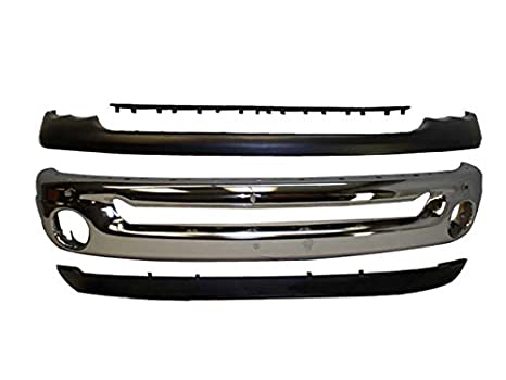 Bundle 03 - 05 Dodge Ram 1500 25 3500 parachoques delantero cromado Bar hasta inferior paso pad 4P: Amazon.es: Coche y moto