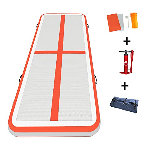 "Darget Gymnastic Inflatable Air Track Tumbling Floor Mat with Pump (Air Floor:3m /9.8'x 1m /39""x10cm /4"")"