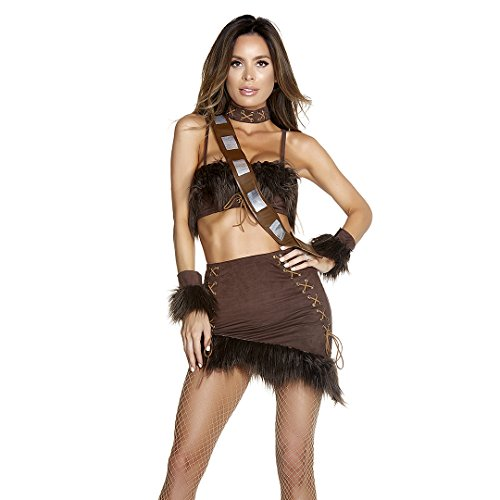 Forplay Women's Captivating Co-Pilot Sexy Movie Character Costume, Brown, ()