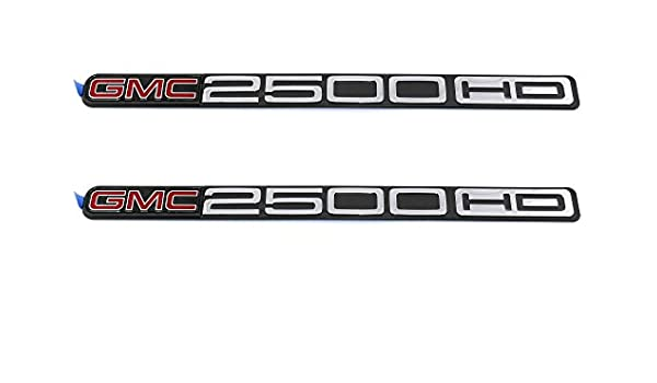 2 Genuine GMC 2500 HD Sierra Front and Side Door Emblem OEM New Set of 2