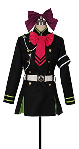 Shinoa Hiragi Costume (Dreamcosplay Anime Seraph of the End Shinoa Hīragi Black Cosplay Costume)