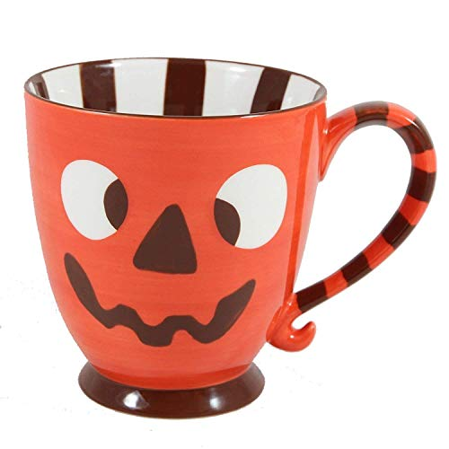 Starbucks Coffee 2007 Halloween Orange Jack-o-Lantern Monster Mug 18 fl. -