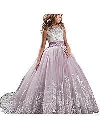 GU ZI YANG Girls Toddler Pageant Dresses for Teens Lilac Flower Girls Dress 50