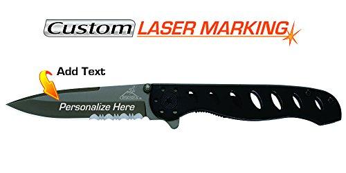 Gerber Evo Camping Knife - Custom Laser Engraved Knife - Gerber EVO Jr. Serrated Edge (22-41493)