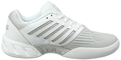 EU 3 Bigshot Carpet Blanc Femme Chaussures Tennis Light Silver Swiss Performance de K White wqZgOIq