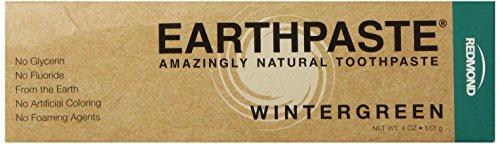 Redmond Earthpaste - Natural Non-Flouride Toothpaste, Wintergreen, 4 Ounce Tube
