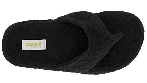 New Black York Micro Capelli Slippers Cozy Ladies Indoor Pqd00zw