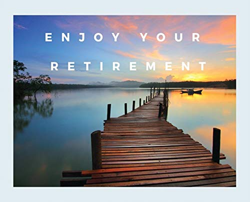Happy Retirement Guest Book (Hardcover): Guestbook for retirement, message book, memory book, keepsake, landscape, retirement book to sign