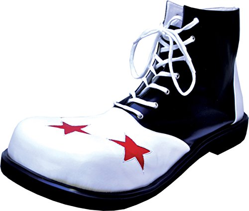 Morris Costumes Clown Black and White Mens Shoe, Large for $<!--$54.59-->